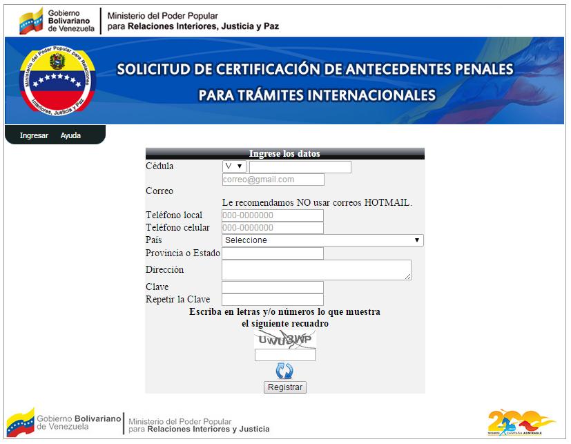 Direccion Del Ministerio De Interior Y Justicia Caracas