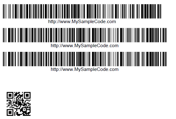 iText generate Barcode and QrCode Example