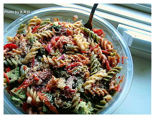 ... Vegan Mofo #10 - Kim's Peanut Pasta Salad with Fried Tempeh Bits