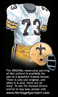 New Orleans Saints 1972 uniform
