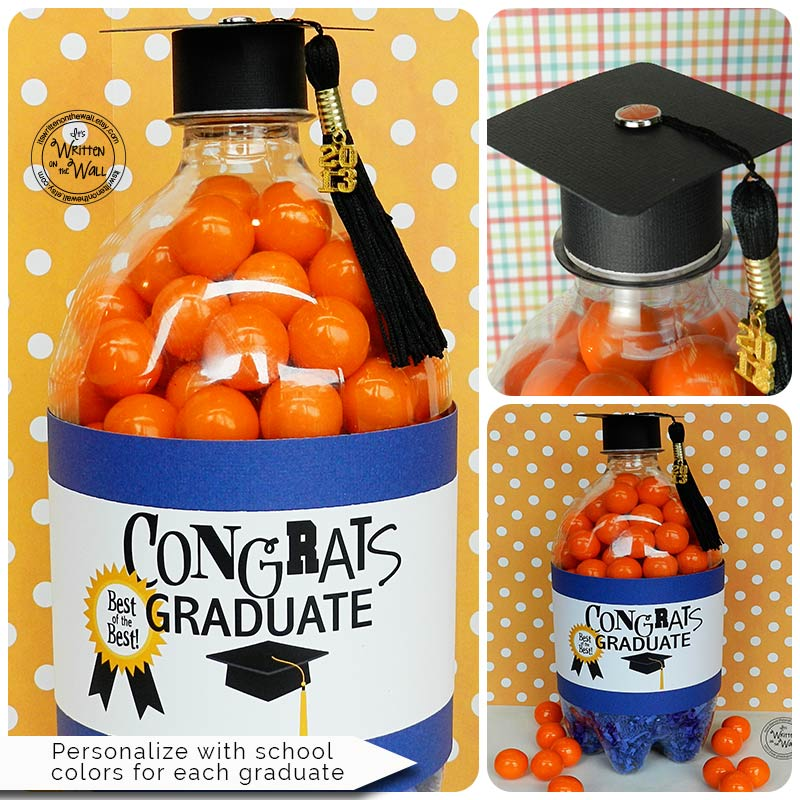 Cash and Treats for the Graduate-Personalize with School Colors