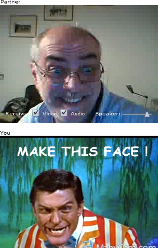 Make this face joke in chatroulette