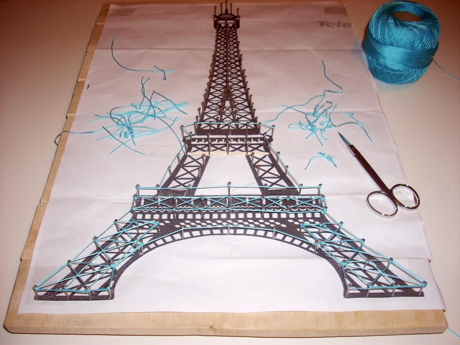 DIY Torre Eiffel de Hilo