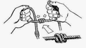 Cara menyimpul tali pada pompa tali