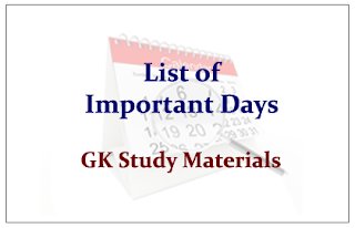 List of Important Days