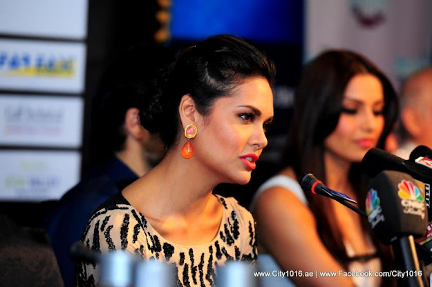 Esha Gupta and Emraan Hashmi at the Raaz3 Press Conference in Dubai
