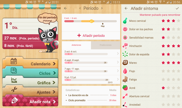 Apps para Android - Calendario menstrual
