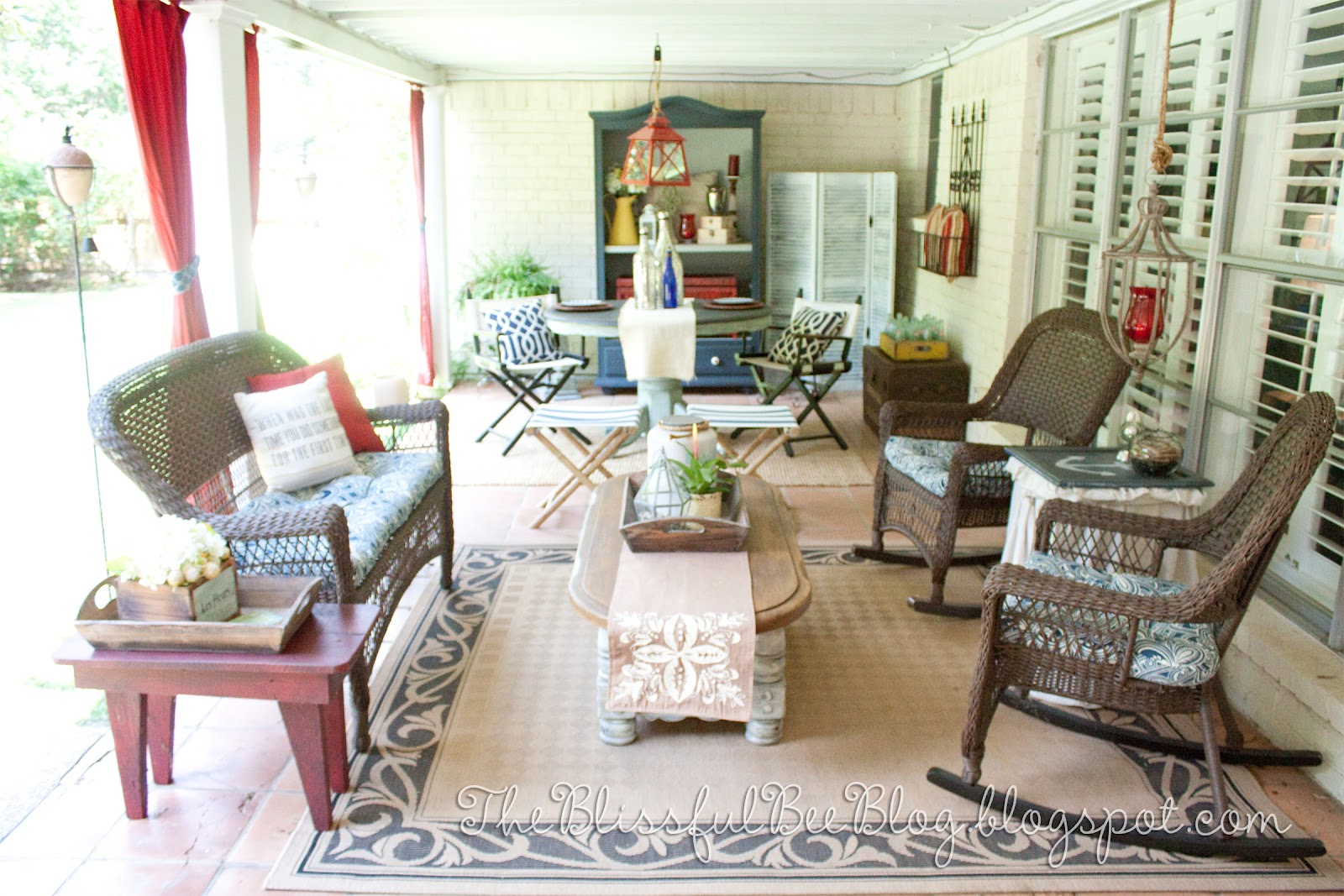 Porch Makeover Round 2! – THE BLISSFUL BEE