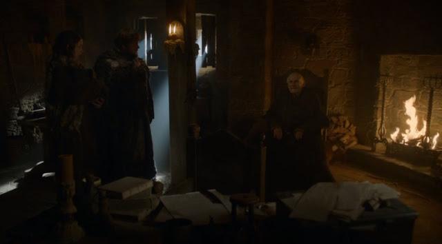 Sam y Elí se reúnen con el maestre Aemon - Juego de Tronos en los siete reinos