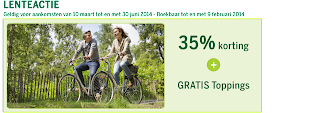 www.centerparcs.nl/lenteactie 35% korting en gratis toppings JM4715