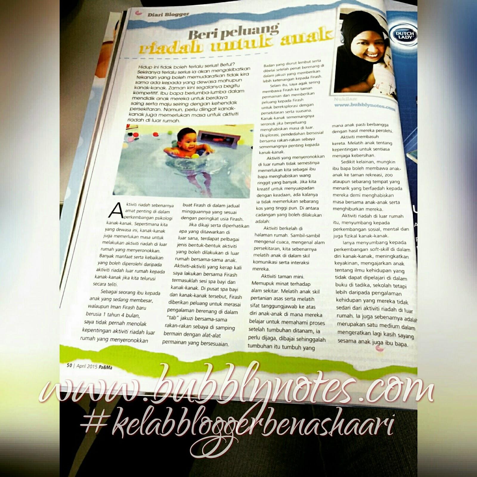 Majalah Pa & Ma March 2015 :Turn to Page 50 Again Please???