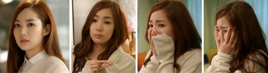 Park Min Young looking uncertain, chagrined and horrified.