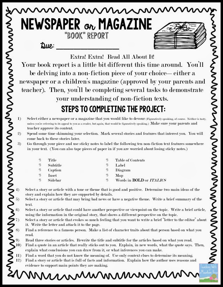 book report fiction Irubric d364b8: a grading rubric for 7th and 8th grade written book reports for each marking period (fiction) free rubric builder and assessment tools.