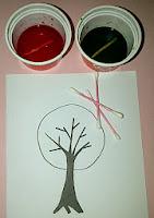 sketsa pohon siap diwarnai