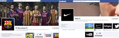 Imágenes de las páginas en Facebook del FC Barcelona y Nike