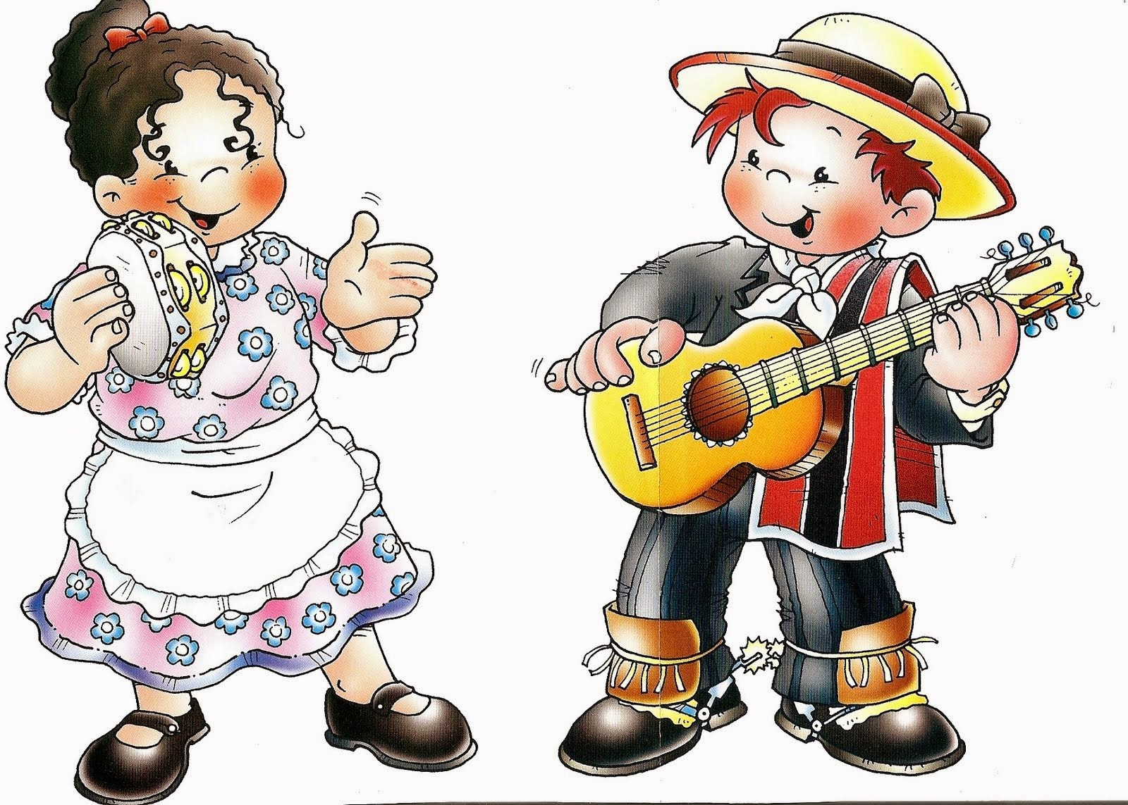 Colorear pareja de huasos chilenos - Baules infantiles ...