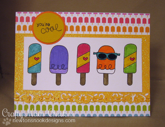Ice Ice Cream Card by Crafty Math-Chick | Summer Scoops stamp set by Newton's Nook Designs