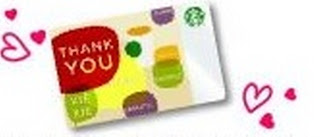 Starbucks Coffee Valentines Day Thank You card Malaysia Asia