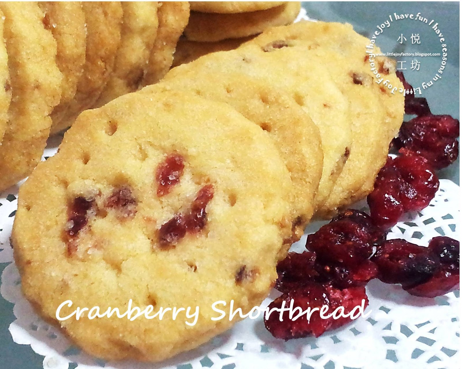 Little Joy Factory: Cranberry Shortbread, Mother's Day ...