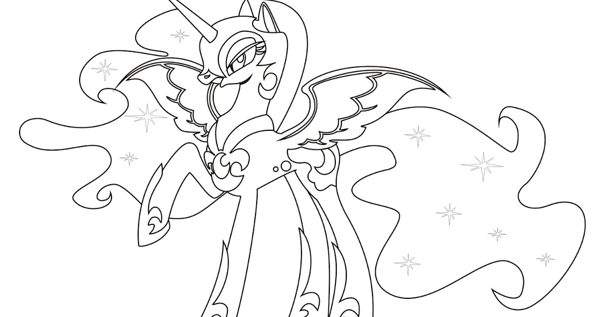 Nightmare Moon Coloring Pages Minister Coloring
