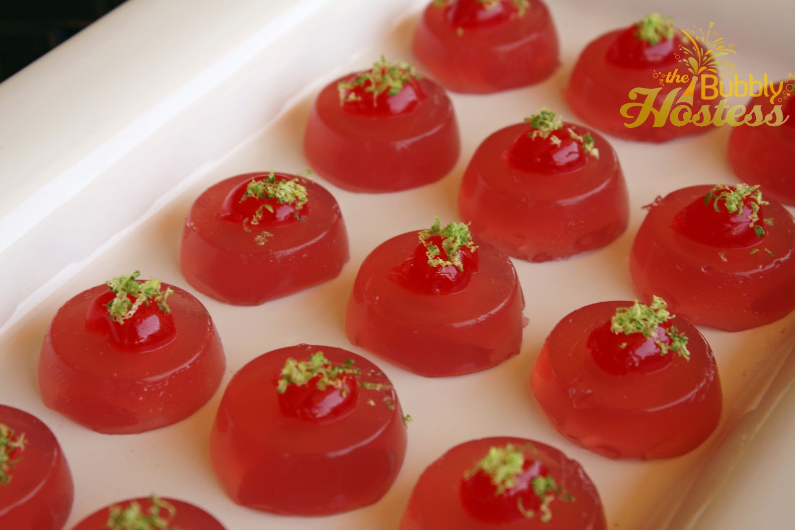 The Bubbly Hostess: Cosmopolitan Jello Shots