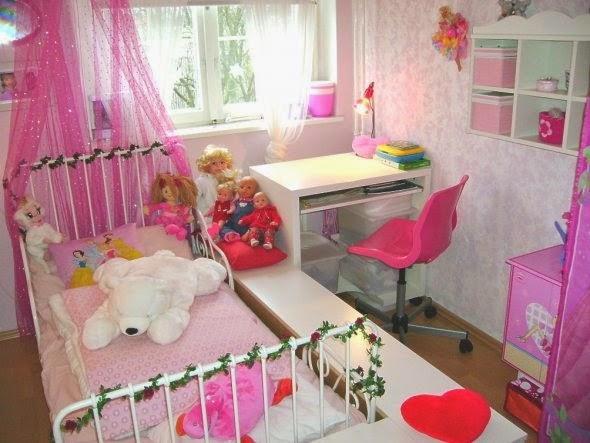 Lindos dormitorios para ni as en color rosa dormitorios for Cuartos de ninas color rosa