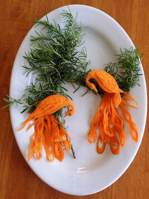 Creative carrot carving art craft gift ideas
