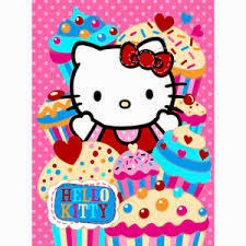 Grosir Selimut Rosanna Soft Panel Blanket Hello Kitty