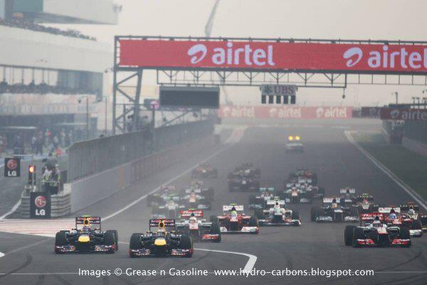 [click Enlarge ] 2012 Indian Grand Prix Formula One World Championship Images © Grease n Gasoline  www.hydro-carbons.blogspot.com 28-Oct  -  Buddh International Circuit  -  60 laps  -  191 miles