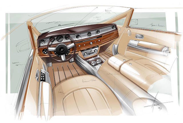 Rolls-Royce presented Phantom Coupé Aviator interior design