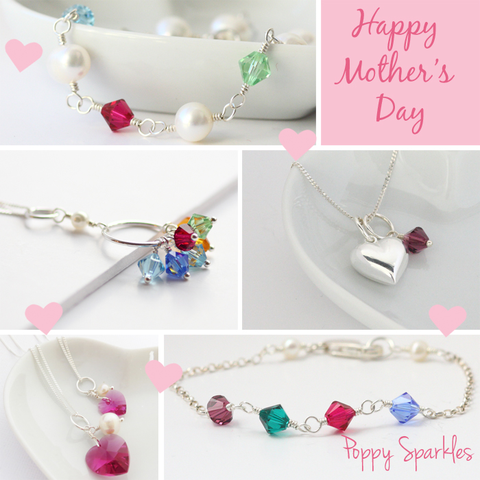 Mother's Day gifts from Poppy Sparkles #birthstone #poppysparkles #jewellery #mothersday