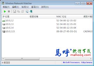 Wireless Network Watcher Portable 免安裝綠色版下載,無線網路監控軟體
