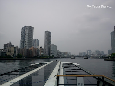 Sumida River cruise starts, Tokyo - Japan