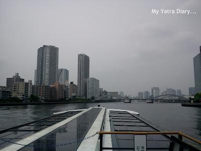 Sumida River cruise starts, Tokyo - Japan