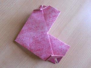 cara membuat origami love atau hati simbol cinta