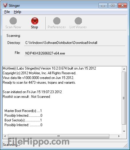 تحميل برنامج McAfee Labs Stinger 12.1.0.807 مجانا اصدار 2014