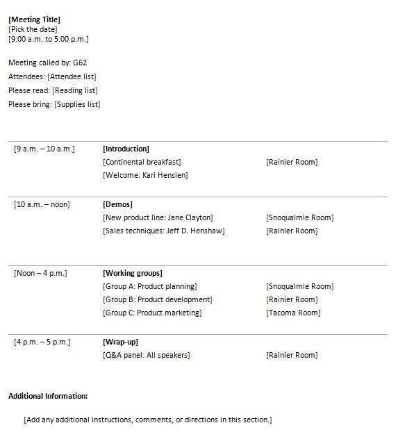 event agenda template .
