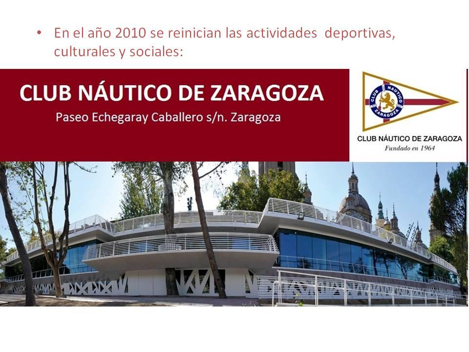 Club n utico zaragoza pasado presente y futuro - Restaurante club nautico zaragoza ...