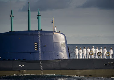 Israel recebe quinto submarino da Alemanha