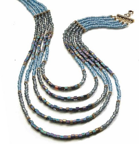 multi strand bead necklace instructions