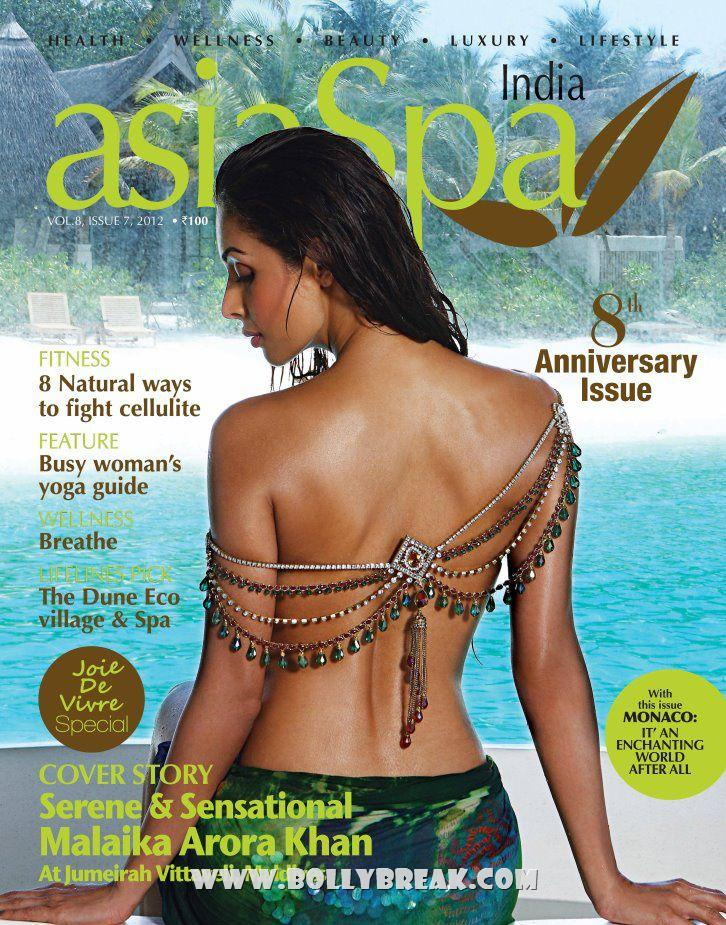 Mailaika Arora Backless Cover Scan asiaSpa India – April 2012  - Mailaika Arora asiaSpa Cover India – April 2012 - Backless