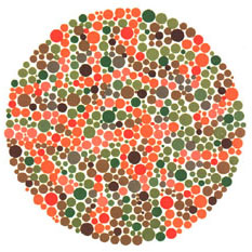Prueba de daltonismo - Carta de Ishihara 29