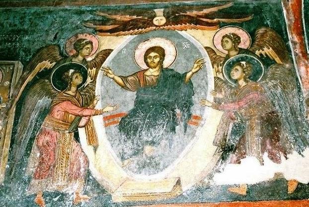 Christ en gloire parmi les anges dans images sacrée 41