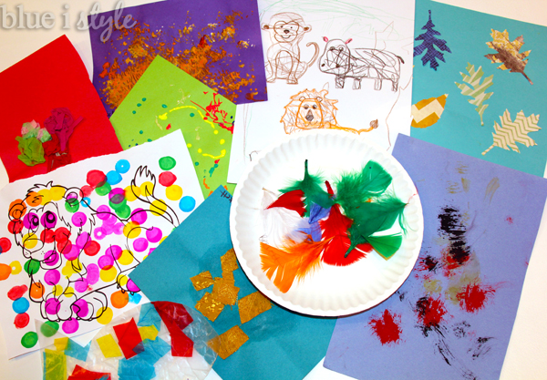 Organize and store kids' art