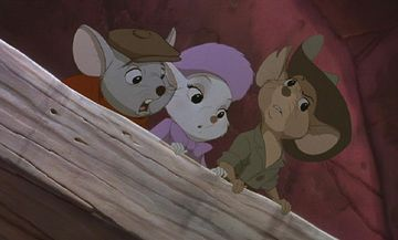 "Bianca, Bernard, Jack Disney movie ""The Rescuers Down Under"" 1990 animatedfilmreviews.blogspot.com"