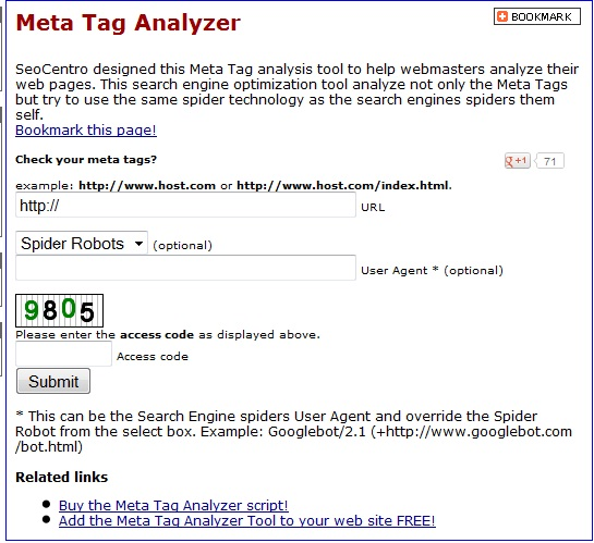 Meta Tag Analyzer : Sekilas tentang meta tag analyzer tool e ajibintara
