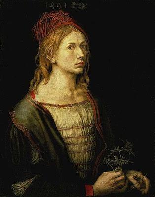 Albrecht Dürer (1471-1528) : Autoportrait au chardon (1493 - Louvre)