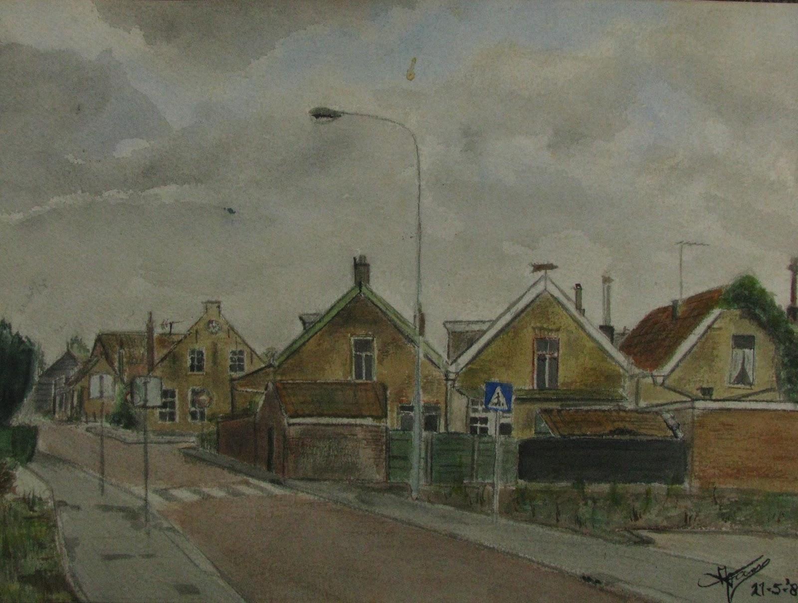 Mijn schilderijen ik ging schilder worden 1982 - Tafel lang eiland huis van de wereld ...