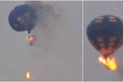 Detik-detik Terbakarnya Balon Udara di Festival Balon