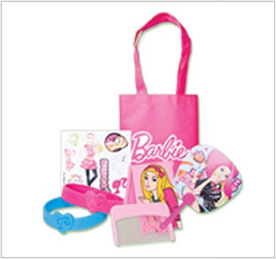 Jollibee party package - Barbie Theme loot bag